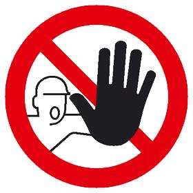 """Verbotszeichen """"Zutritt für Unbefugte verboten"""""""