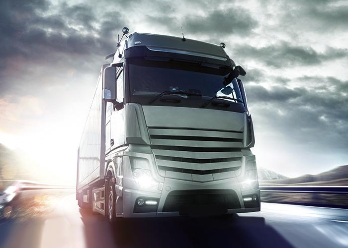 Ein Truck, der mit LNG (Liquefied Natural Gas) betrieben wird.