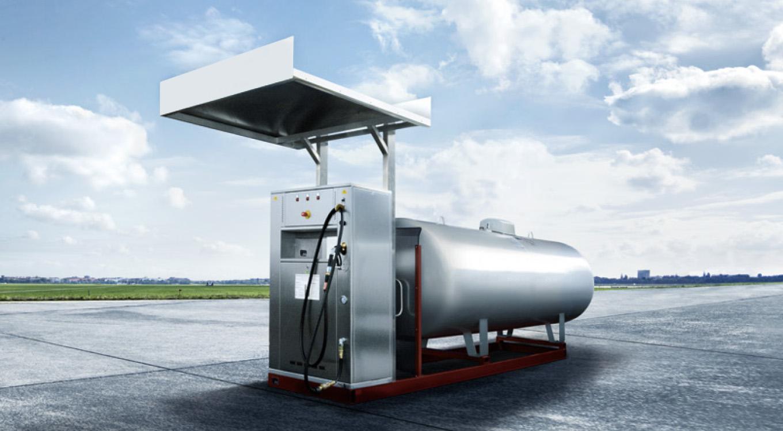 Treibgas-Tankstelle.